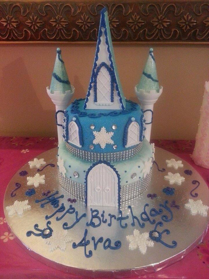 Snowflake Castle Birthday Cake using Wilton Castle Pieces