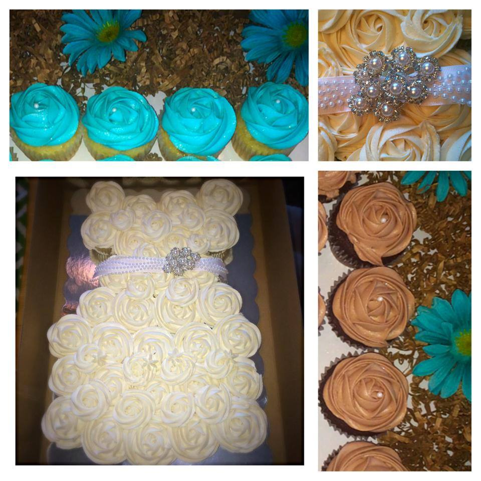 Bridal Shower Wedding Dress in Cupcakes