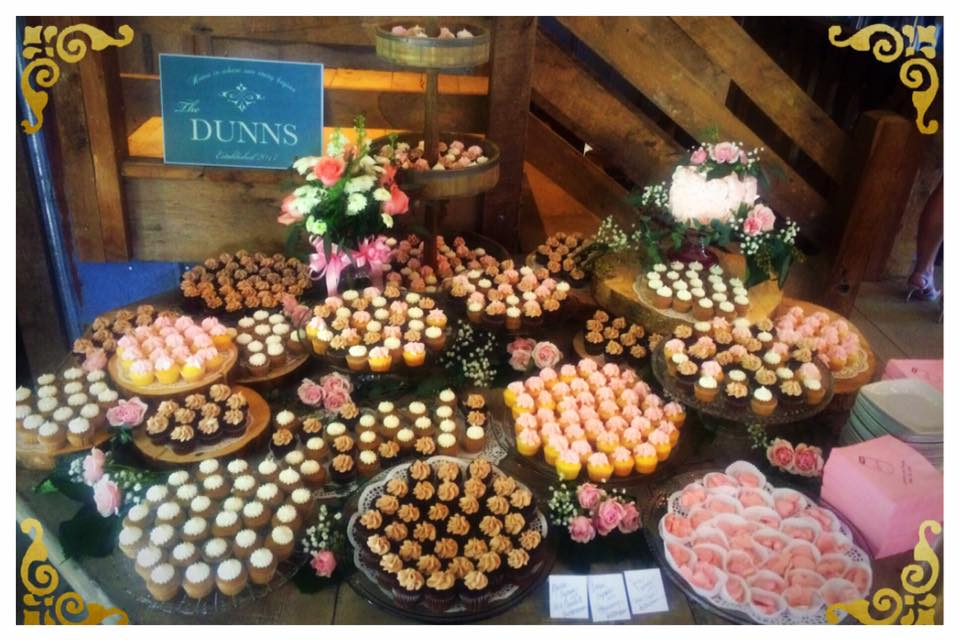 The Barn at Wildwood Springs Wedding Mini Cupcakes in Spice, Chocolate and Lemon