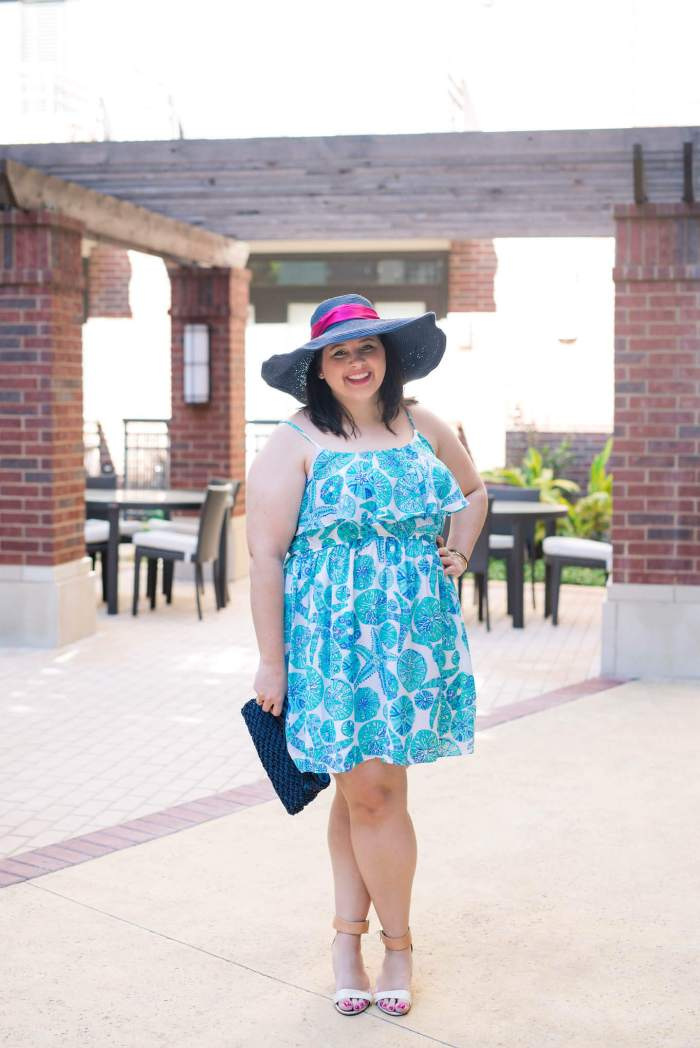 Kentucky Derby Attire - Something Gold, Something Blue fashion blog - What to wear to the Kentucky Derby, What to wear to a kentucky derby party, Lilly pulitzer, Marley Lilly hat, Sam Edelman Shoes