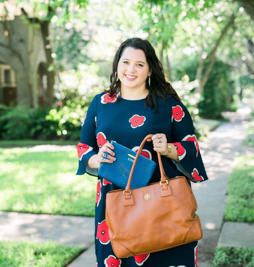 Work to Play   Something Gold, Something Blue Curvy Plus Size Fashion Blog   What to wear to work, business casual to happy hour attire, floral dress, Eloquii