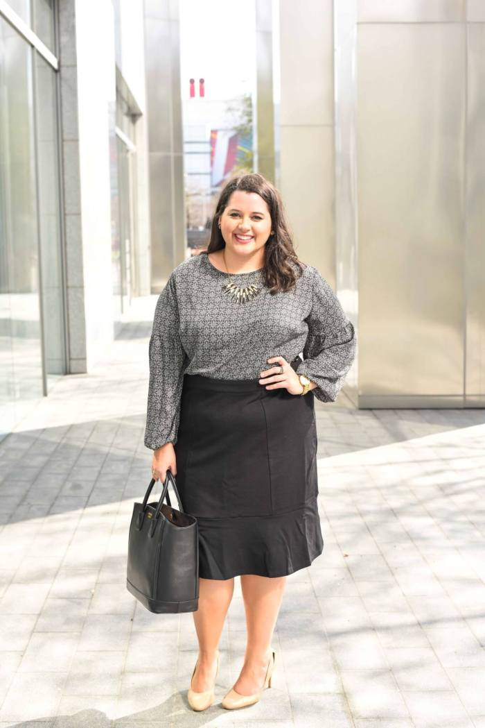 I spend most of my time in business casual work wear for my full time job. With the changes in my body from spending so much time on the spin bike, I have had a hard time finding pencil skirts that work well with my body. When Gwynnie Bee challenged me to share my style resolution, I knew wearing a pencil skirt to work was going to be a trend that I wanted to try again. I'm sharing my take of how to style a pencil skirt for a corporate office on the curvy style and travel blog, Something Gold, Something Blue.