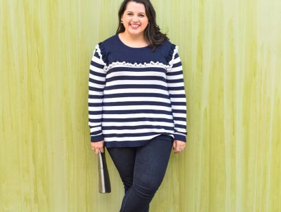Blue and White Striped Sweater + a Giveaway