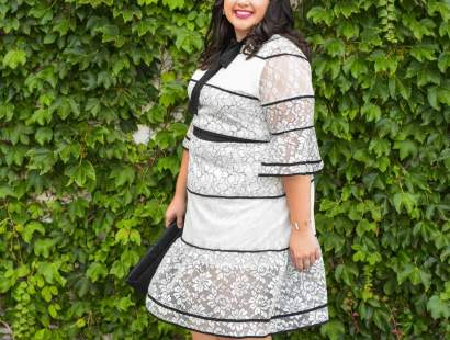 White Lace Dress + How to Save Money at Eloquii