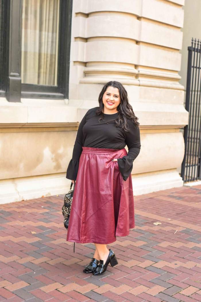 Workwear Wednesday: Faux Leather Skirt