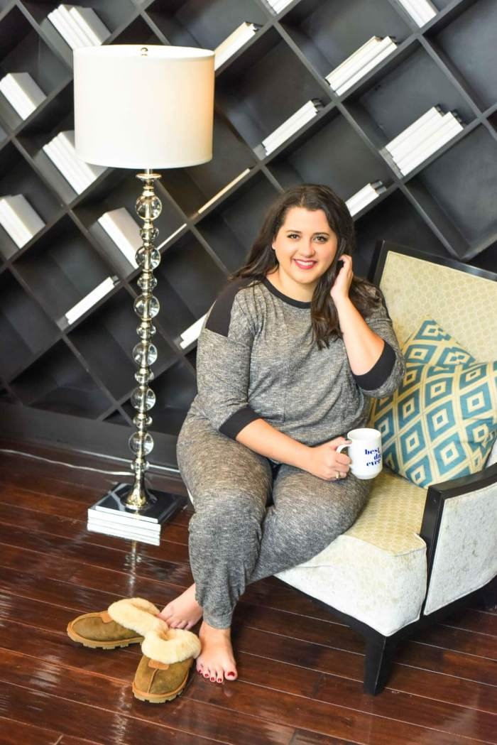 Looking chic while sleeping can make you wake up more rested, right? Ok, there's no science behind it, but if I feel great in them, then why wouldn't it be worth investing in a new pair? Make sure to check out Kohl's vast selection of plus size sleepwear to find your perfect pair. #kohls #affordablestyle #curvystyle - Getting a Better Night's Sleep with Kohl's Plus Size Pajamas by popular Houston fashion blogger Something Gold, Something Blue