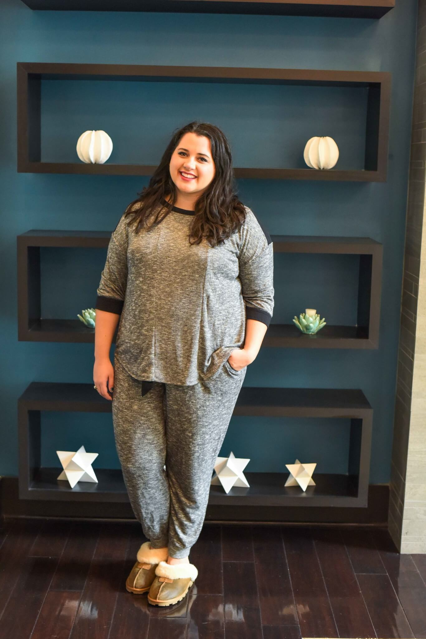 The Simply Vera Vera Wang pajamas from Kohl's have quickly become one of my go-to lounge and sleepwear sets. Not only is it comfortable, but it also won't break the bank. #plussizestyle #sleepwear