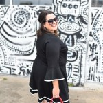 Eliza J Black Fit & Flare Dress