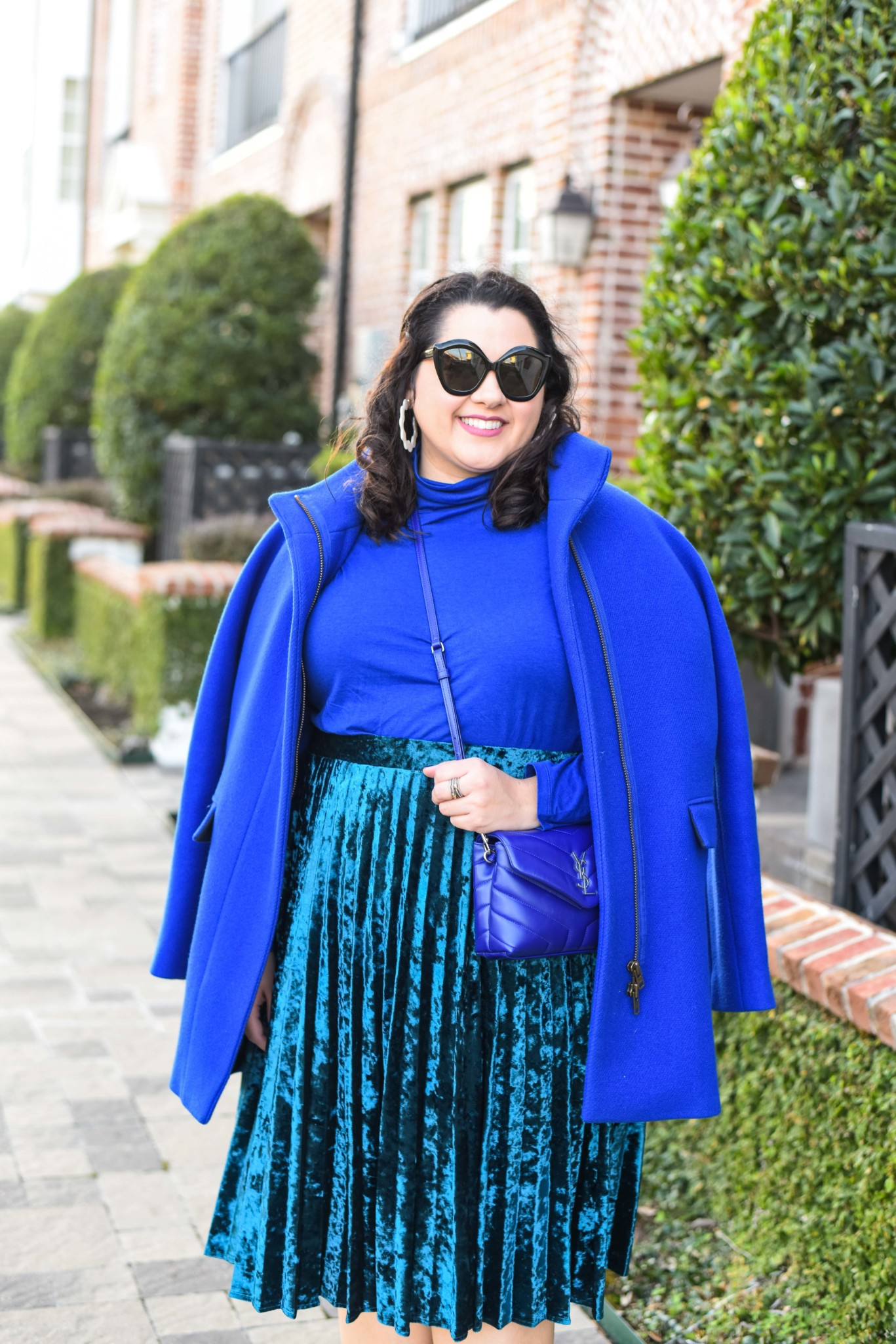 Blue monochromatic plus size outfit