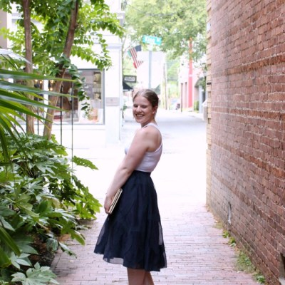 The Rent the Runway Skirt…in Charleston