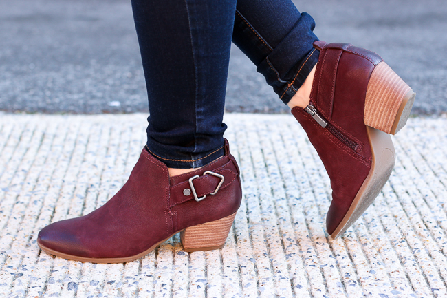 The Camel Blazer Vest | Something Good, cranberry ankle boots