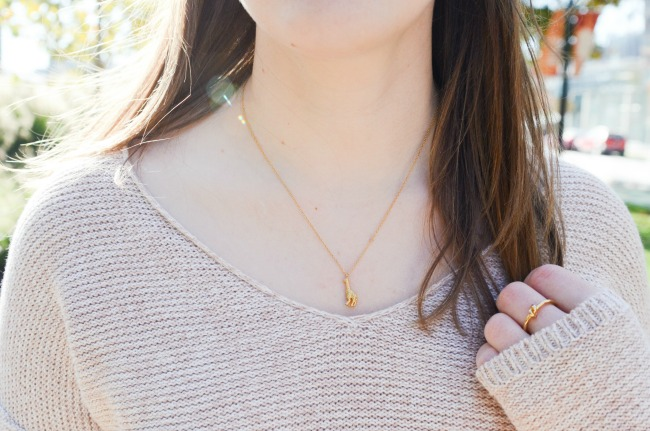 The White Jeans in the Winter | Something Good, giraffe necklace