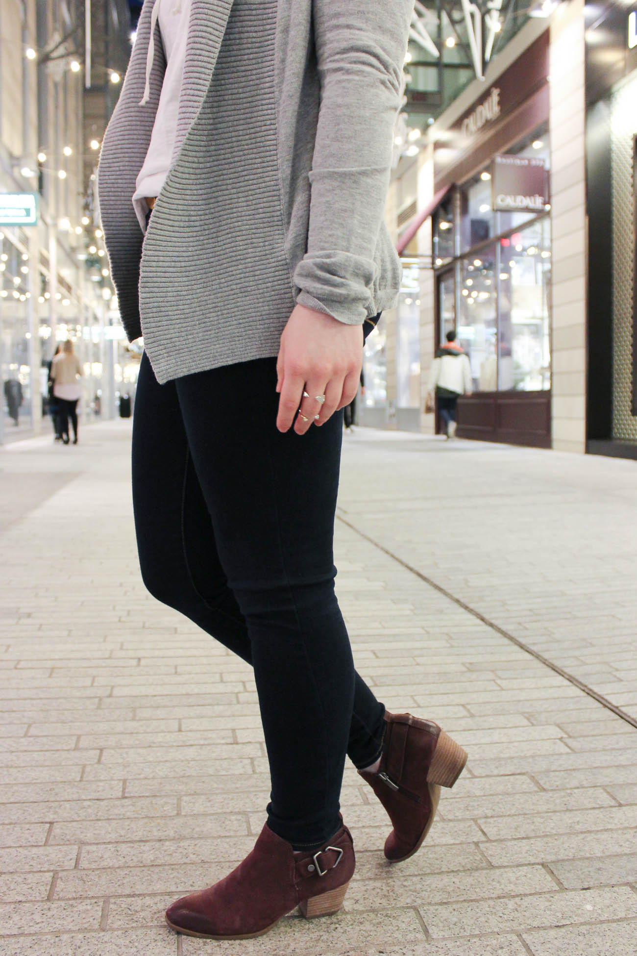 The Lace-Up Tee | Something Good, franco sarto, ankle boots, booties, burgundy ankle boots @danaerinw