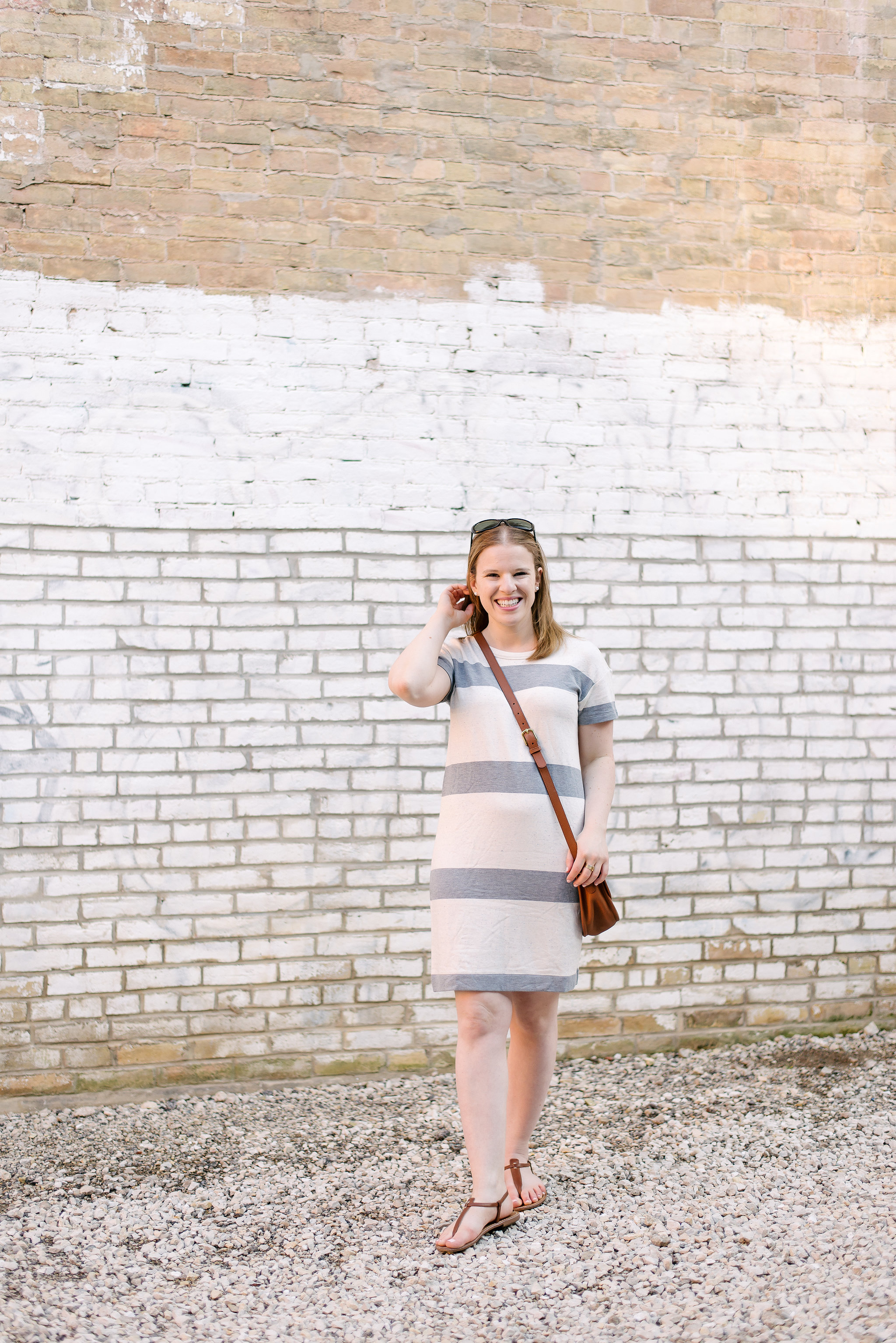The Striped Tee Dress | Something Good, @danaerinw , fashion, style, summer