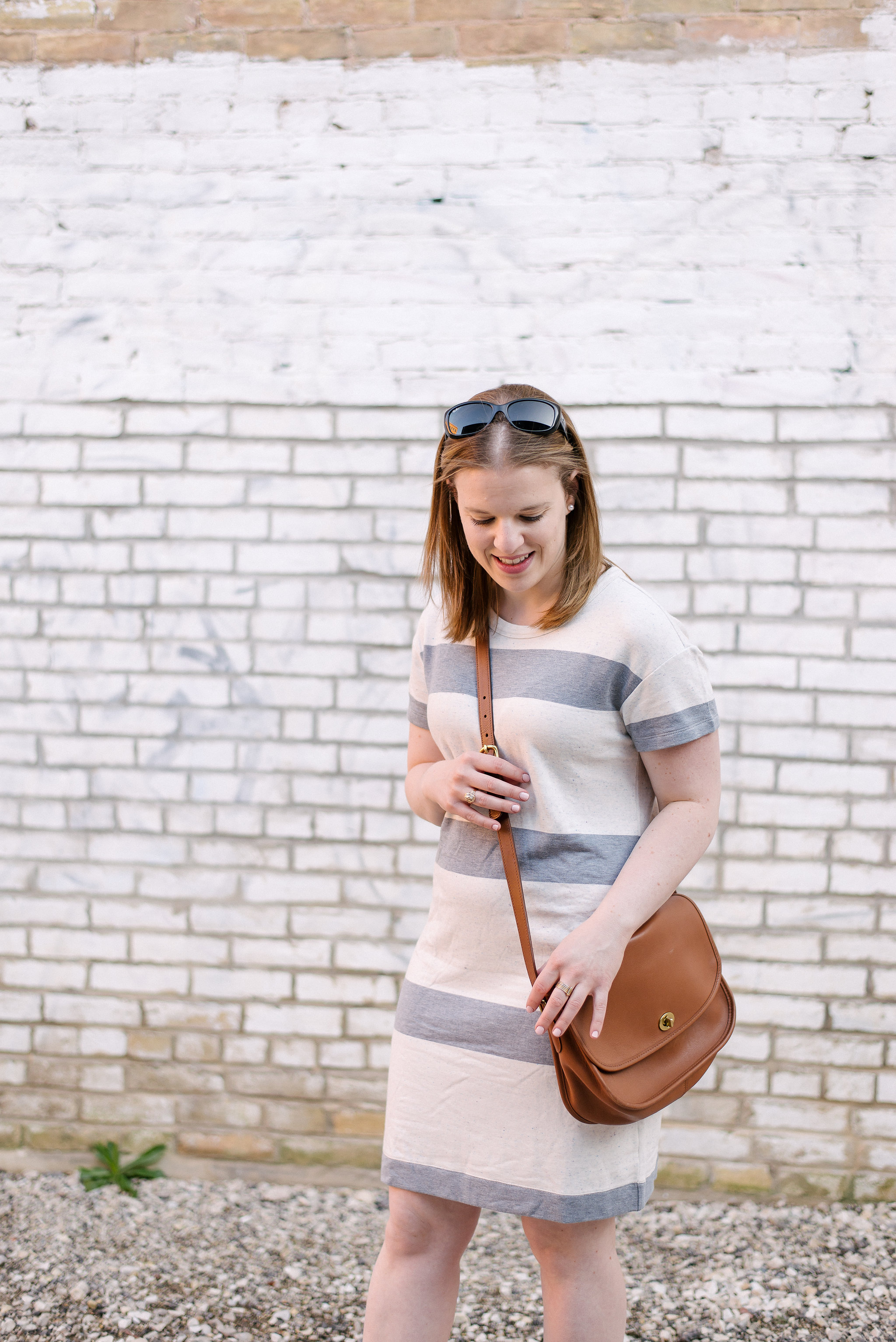 The Striped Tee Dress | Something Good, @danaerinw ,