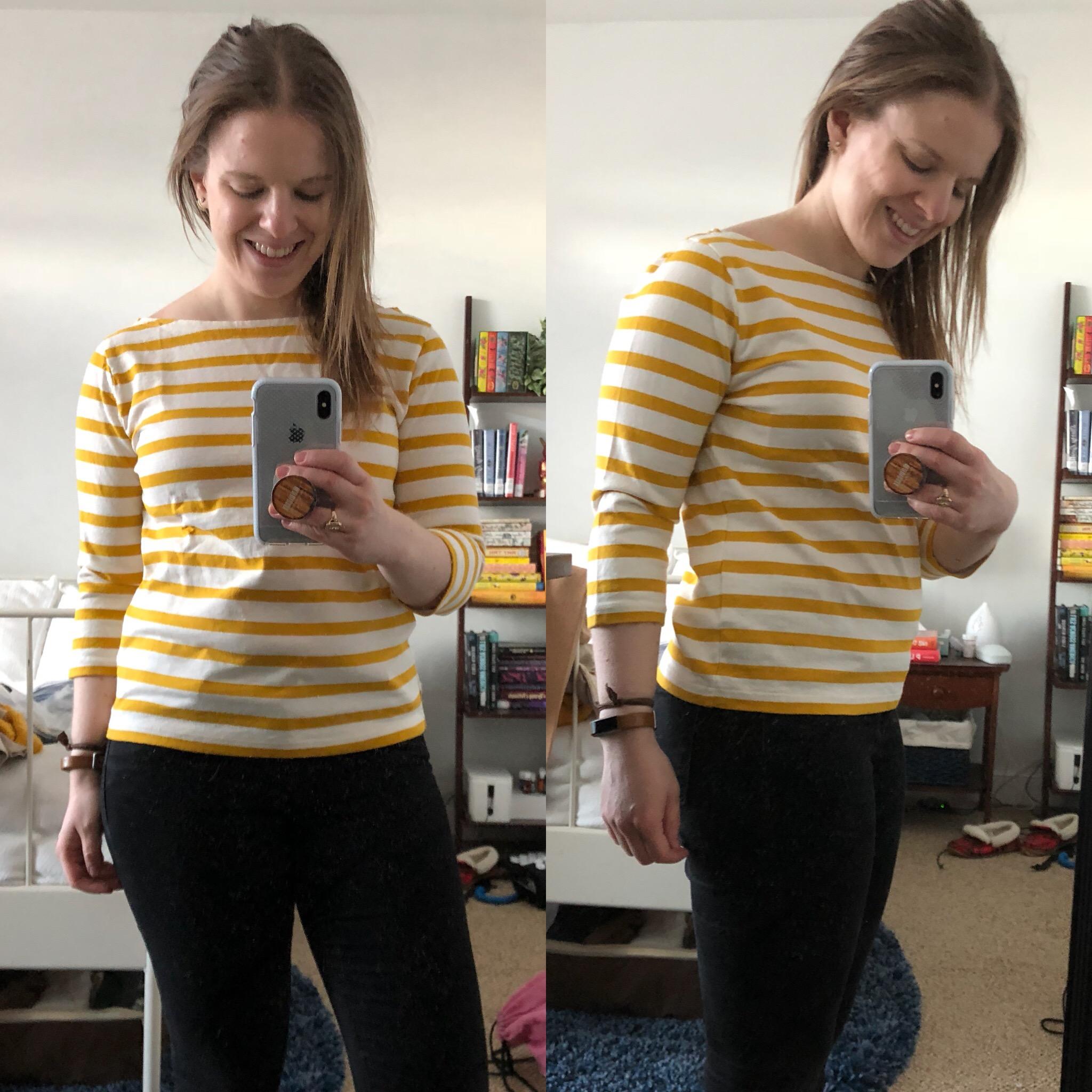 DC woman blogger wearing J.Crew Classic Striped T-Shirt 9887499cf