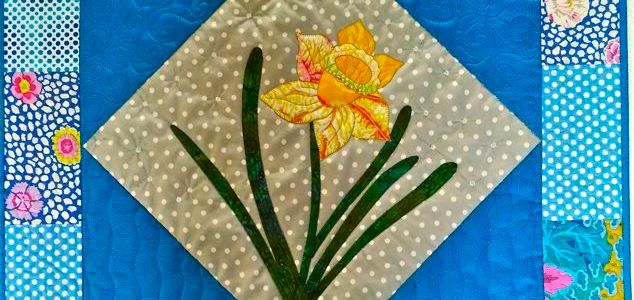 Spring Daffodils, March Block of Month