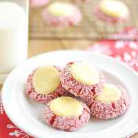 Red Velvet Cream Cheese Thumbprints