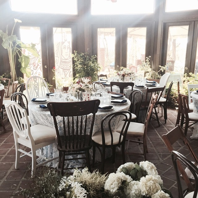 Arranging our vintage chairs for a wedding at Gramercy Mansion last weekend #vintagerentals #furniturerentals #dcweddings #marylandweddings #vintage #weddings #vintage #adccreative