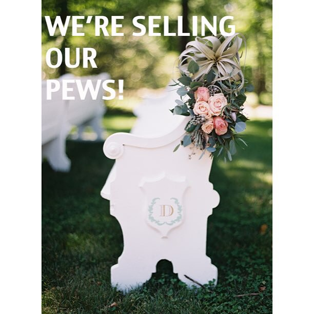 We are selling 30 of our #vintage church pews for a steal–$149 each (which is also our rental price)! We need to make room for our growing supply of reclaimed wood, so these pews have gotta go!  Message us at info@somethingvintagerentals.com to purchase!  #vintagerentals #weddings #events #antique #eventdesign #furniturerentals