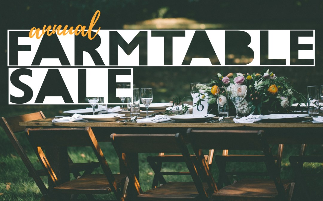 Farm Table Sale at SVR Warehouse!