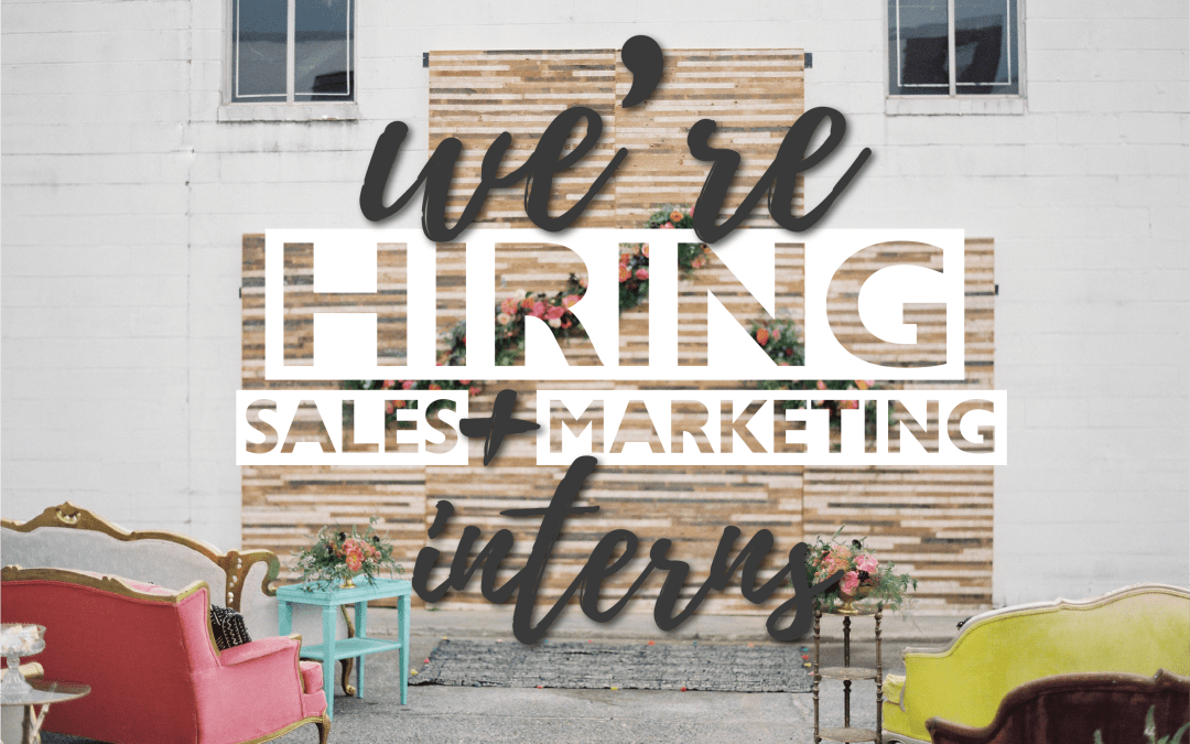 Calling all interns || Marketing and Sales Interns Wanted