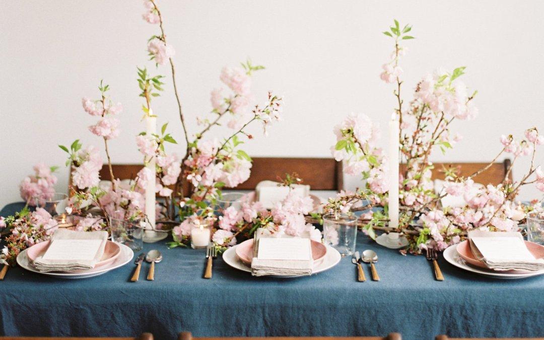 A Charming Cherry Blossom Wedding Editorial    Washington DC