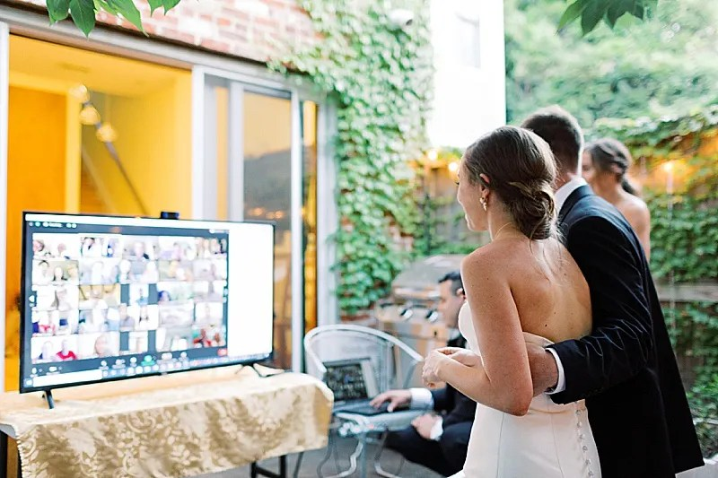 An Intimate Backyard Wedding at Home || Washington, DC