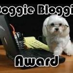 Thanks, Sage, for the Doggie Bloggie Award.