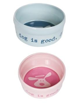 Dog is good ceramic bowl.