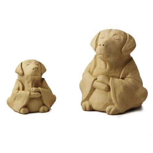 Zen Dog Garden Sculptures from Uncommon Goods.
