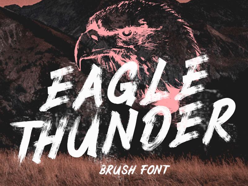 Eagle Thunder Textured Brush Font