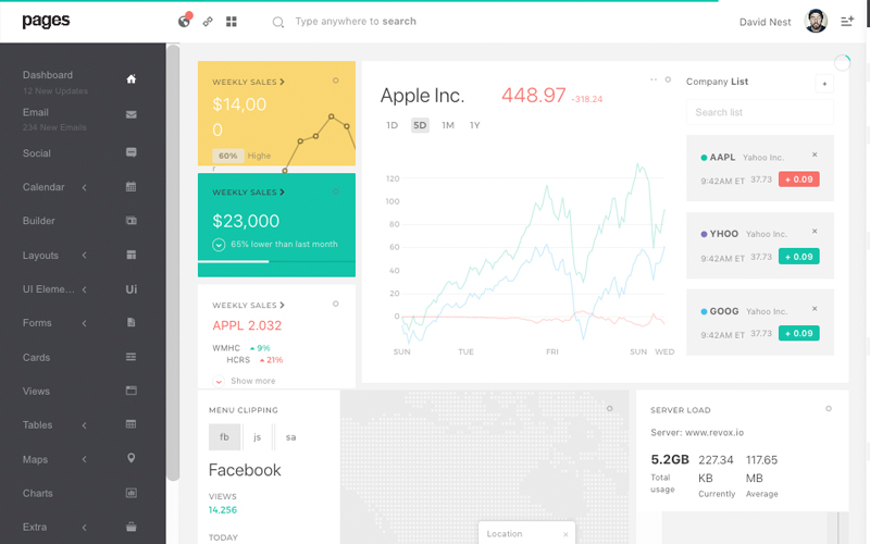Pages Admin Bootstrap