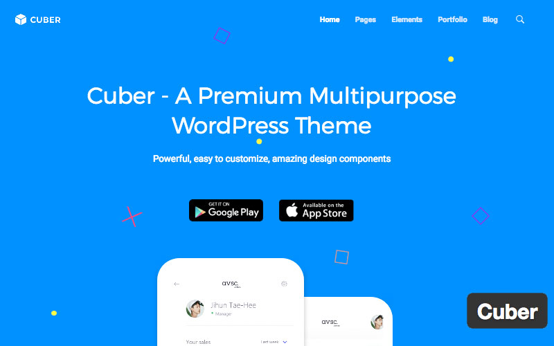 Cuber Premium Multipurpose WordPress Theme