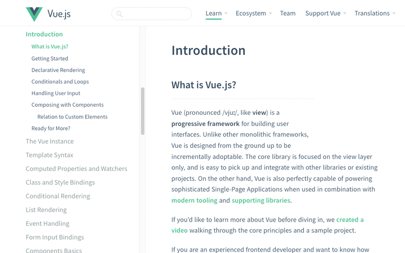 Official Vue Js Guide