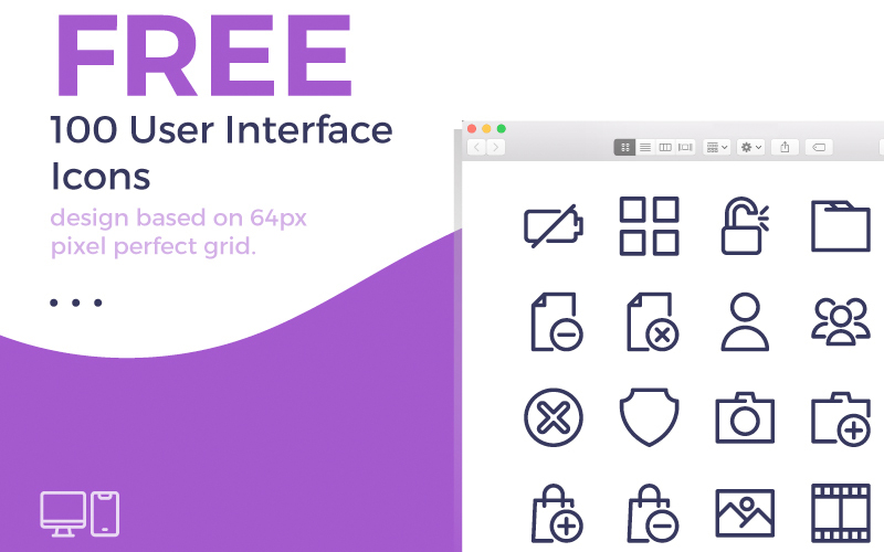 100 User Interface Icons