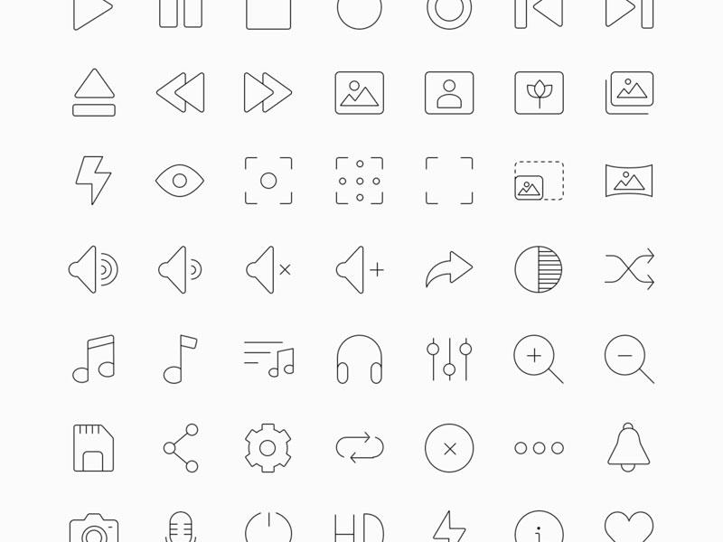 60 Multimedia Icons