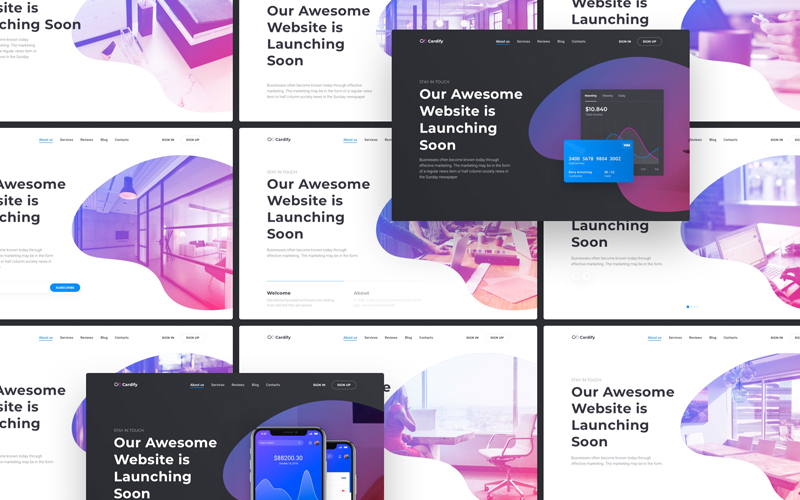 Cardify Startup Ui Kit For Landing Pages