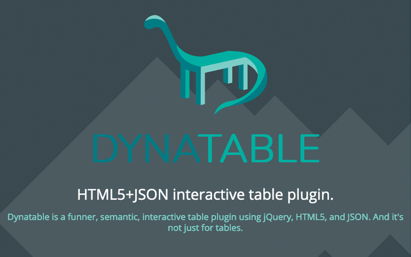 Dynatable Table Jquery Plugin