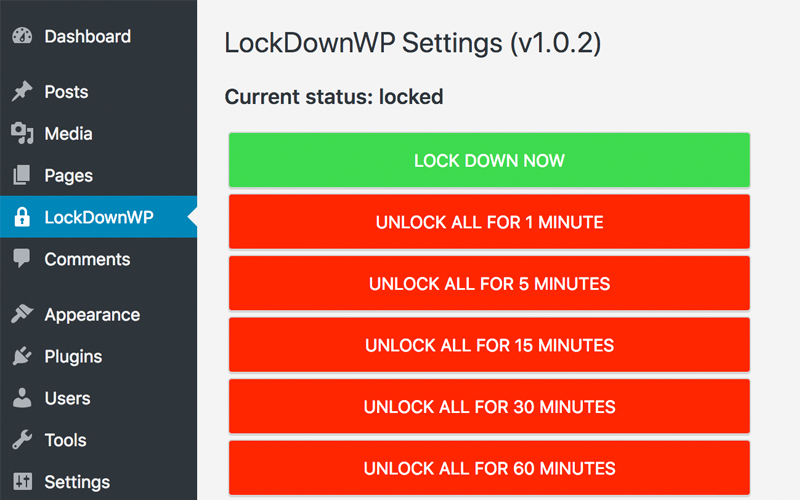 Lockdown Wp