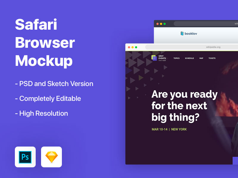 Safari Browser Mockup