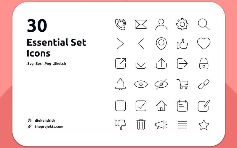 30 Essential Set Icons