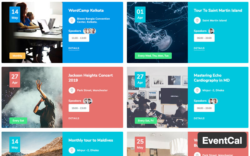 Eventcal Is A Event Management And Booking WordPress Plugin