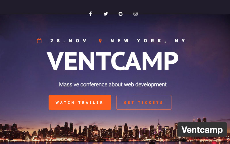Ventcamp Conference WordPress Theme