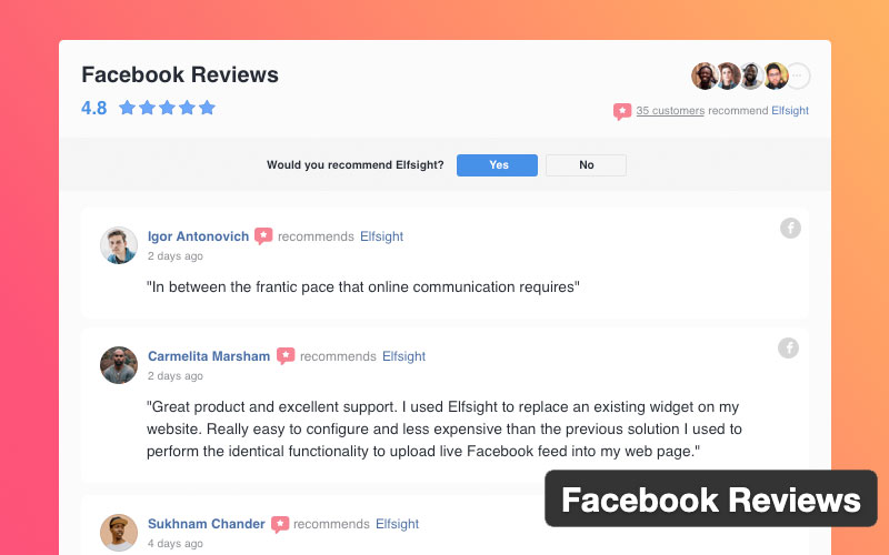 Wordpress Facebook Reviews Plugin