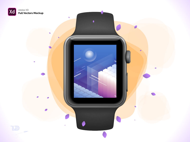Apple Watch S3 42mm Adobe Xd Mockup