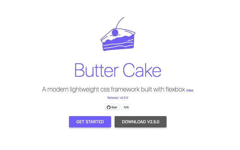 Butter Cake Lightweight Css Framework