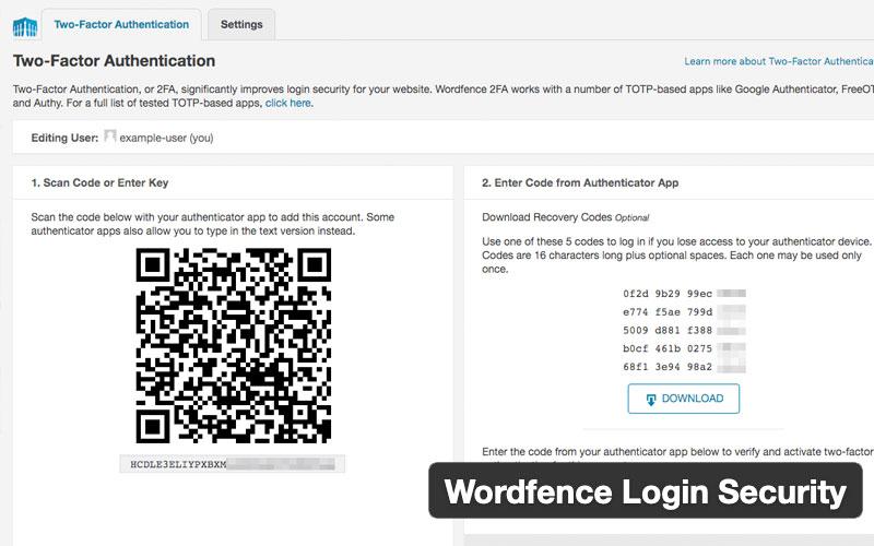 Wordfence Login Security