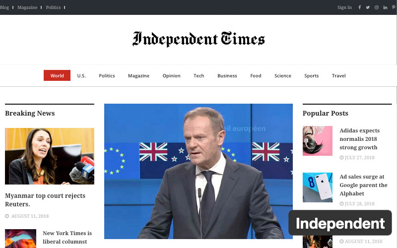 Independent News WordPress Themes