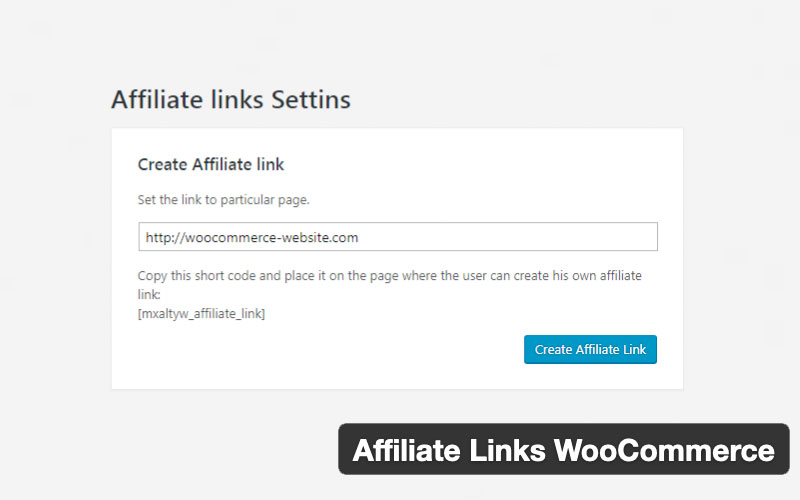 Affiliate Links Woocommerce